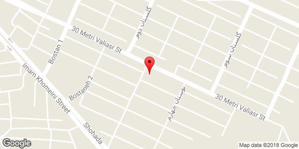 موقعیت مسجد ولیعصر روی نقشه