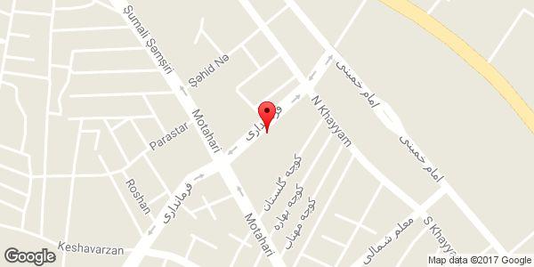 موقعیت معاونت استانداری و فرمانداری ویژه شهرستان میانه روی نقشه