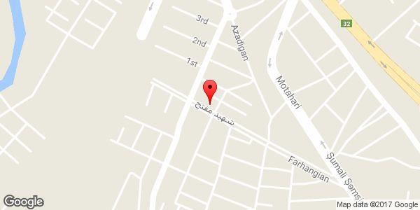 موقعیت فروشگاه زنجیرهای جانبو روی نقشه