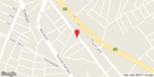موقعیت شرکت تعاونی خدمات مشاورهای و فنی مهندسی سبز آوران کندوان روی نقشه