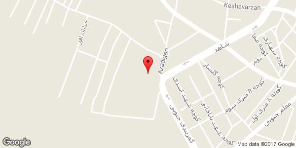 موقعیت فروشگاه مصالح ساختمانی مسیبی شعبه ۲ روی نقشه