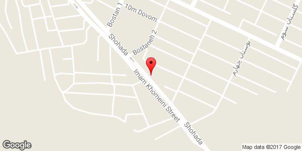 موقعیت صافکاری اتومبیل عباس و سلیمان روی نقشه