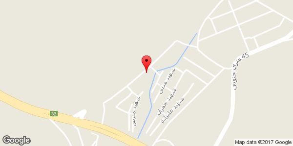 موقعیت فروشگاه مصالح ساختمانی حیدری روی نقشه
