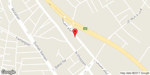 موقعیت گروه صنایع چوبی اکیاس وطن روی نقشه