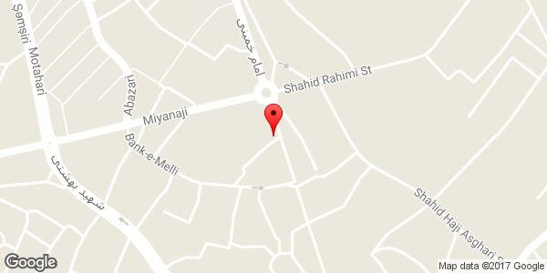 موقعیت ساندویچی عمو تقی روی نقشه