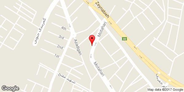 موقعیت دفتر تاسیسات آریا روی نقشه