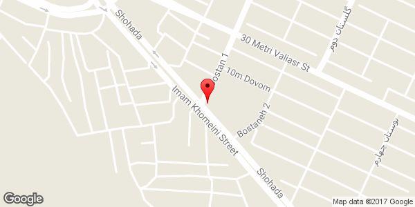 موقعیت مدرسه شبانه روزی پسرانه دکتر بهشتی روی نقشه