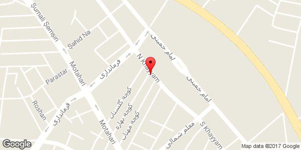 موقعیت مسجد سید الشهداء (ع) روی نقشه
