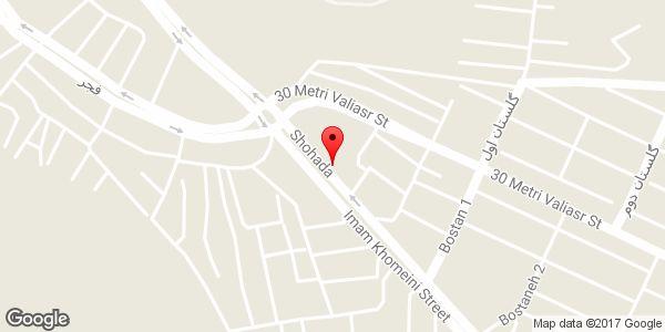 موقعیت صافکاری و شاسی کشی فرید روی نقشه