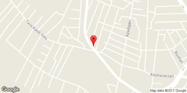 موقعیت تاکسی تلفنی رسا روی نقشه