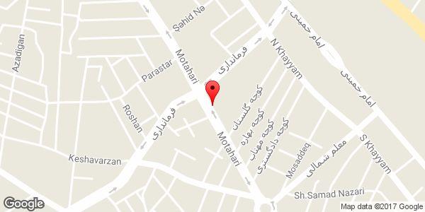 موقعیت فروشگاه لورا روی نقشه