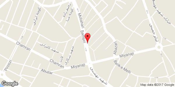 موقعیت گالری مبل شهرام روی نقشه