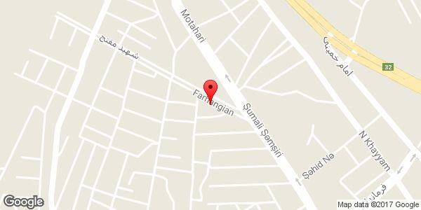 موقعیت پیتزا پاپیون روی نقشه