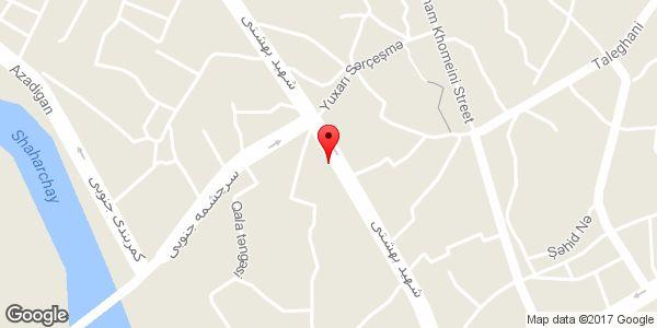 موقعیت خیاطی روی نقشه