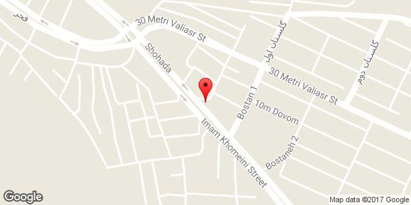 موقعیت فیلتر کالج روی نقشه