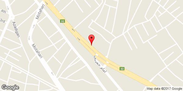 موقعیت لوازم یدکی کارون روی نقشه