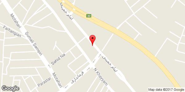 موقعیت ساندویچی حسام روی نقشه