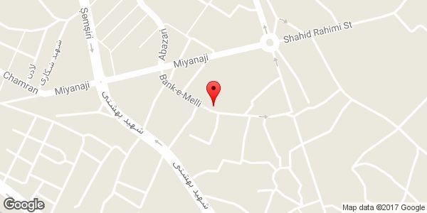 موقعیت مسجد آقایار سلطان روی نقشه