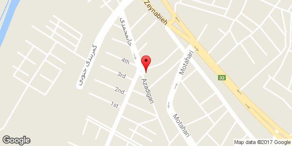 موقعیت سوپر مارکت صدف روی نقشه
