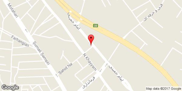 موقعیت کافه رستوران سوران روی نقشه