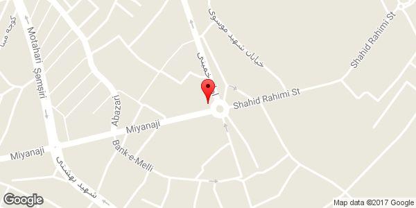 موقعیت روزنامه فروشی رضالو و دفتر نشریه مهر صبا روی نقشه