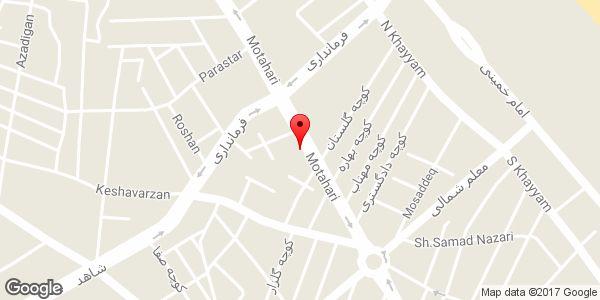 موقعیت فروشگاه لباس زنانه bessini روی نقشه