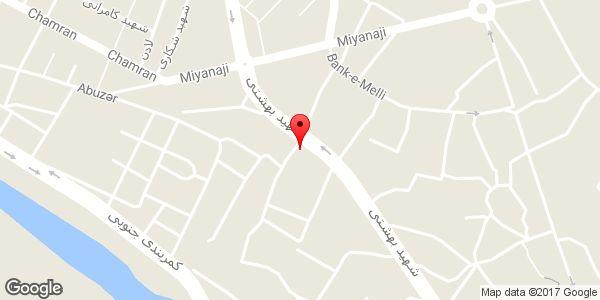 موقعیت فروشگاه محله روی نقشه