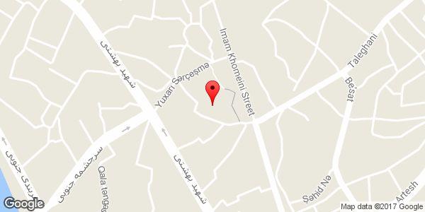 موقعیت بقعه امامزاده اسماعیل (ع) روی نقشه