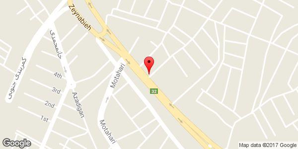 موقعیت سوپر مارکت باقری روی نقشه
