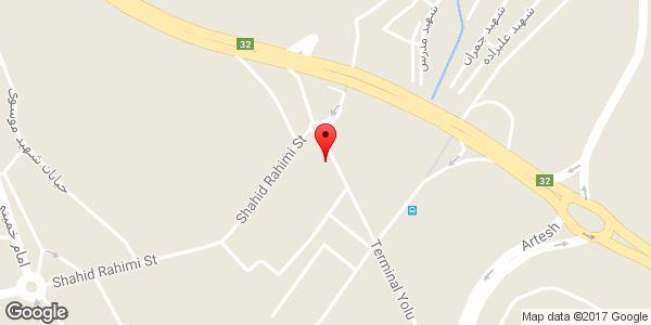 موقعیت ابزار آلات ساختمانی حبیبی روی نقشه
