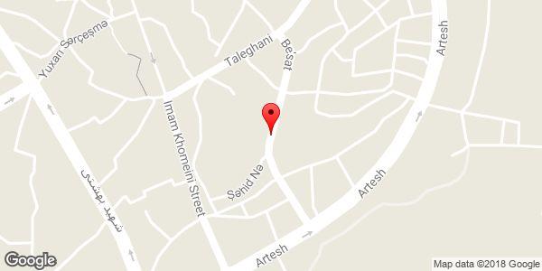 موقعیت خیابان بعثت روی نقشه