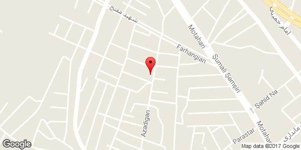 موقعیت چلوکبابی شیخ الاسلامی روی نقشه