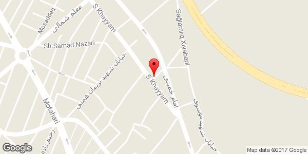 موقعیت مسجد چراغ روی نقشه
