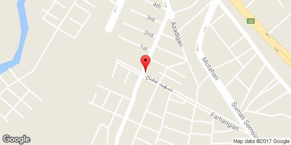 موقعیت فروشگاه لباس باليزا روی نقشه