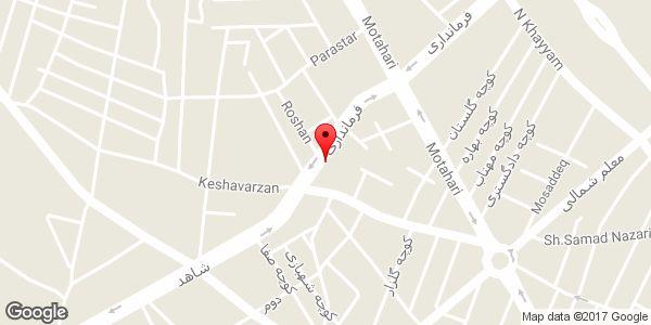 موقعیت مسجد فاطمة الزهراء (س) روی نقشه