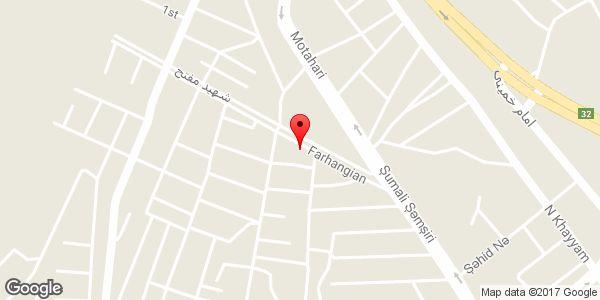 موقعیت دفتر فنی ساختمانی گلسرخی روی نقشه