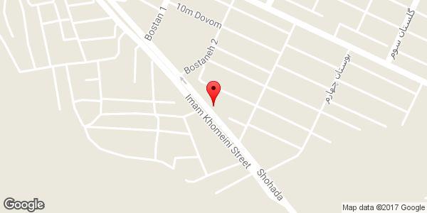 موقعیت صافکاری و نقاشی اتومبیل مجید روی نقشه