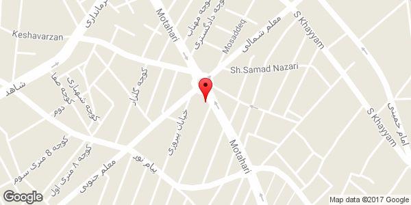 موقعیت فروشگاه لی لی پوت روی نقشه
