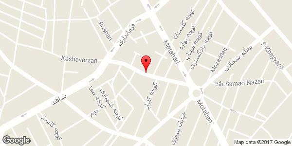 موقعیت کاشی و سرامیک روی نقشه