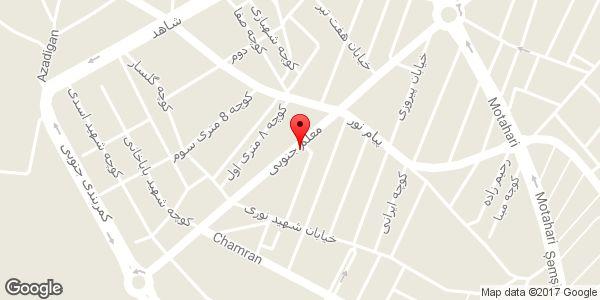 موقعیت دفتر فنی مهندسی فرا طرح روی نقشه