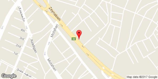 موقعیت لاستیک کاظم خانی روی نقشه