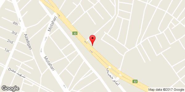 موقعیت فروشگاه لوازم یدکی ياغموری روی نقشه