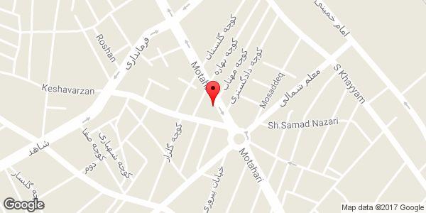 موقعیت فروشگاه لباس زنانه روی نقشه