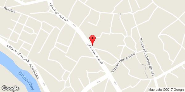 موقعیت دفتر فنی مهندسی آناج روی نقشه