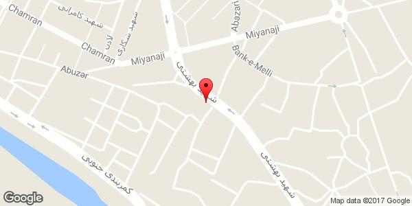 موقعیت فروشگاه جاوید روی نقشه