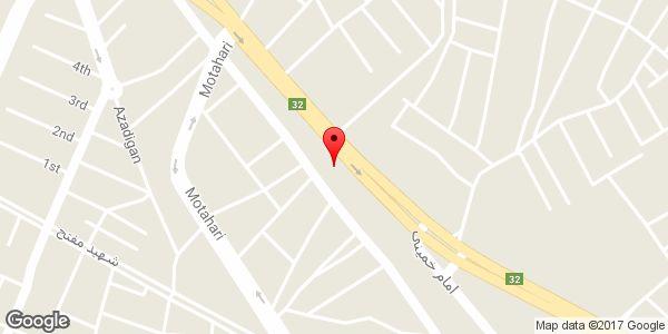 موقعیت بورس لاستیک حمید روی نقشه