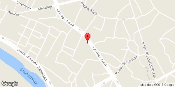 موقعیت فروشگاه لوله و شیرآلات بهداشتی ساختمان بهمن روی نقشه