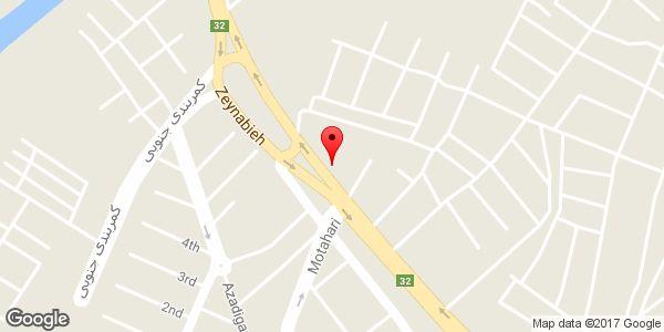 موقعیت صافکاری اتومبیل علی روی نقشه
