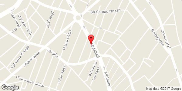 موقعیت فروشگاه لباس یونیک روی نقشه