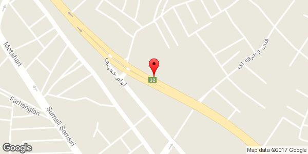 موقعیت تعمیرگاه CNG روی نقشه